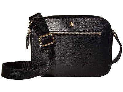 LAUREN Ralph Lauren Saffiano Hayes 20 Crossbody Medium (Black) Handbags