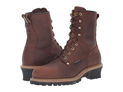 Carolina Elm Waterproof Plain Toe Logger ST CA9821 (Copper Crazyhorse) Men