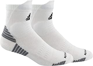 adidas Unisex-Adults Standard Alphaskin Maximum Cushioned High Quarter Sock, Bold Blue/White/Light Onix, 12-16