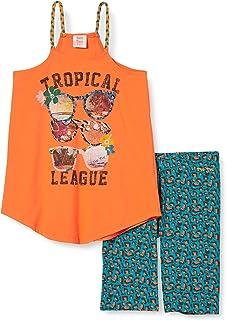 Conjunto Camiseta Y Legging Pirata Estampado NIÑA Naranja Party Animal