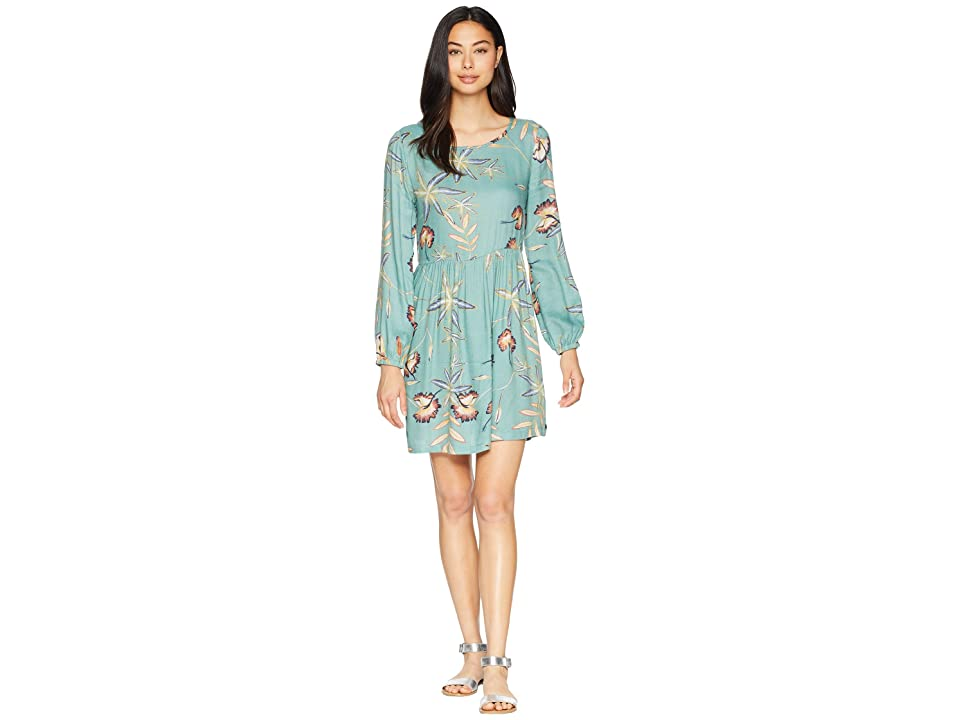 Roxy Highland Escape Woven Smocked Dress (Trellis Bird Flower) Women