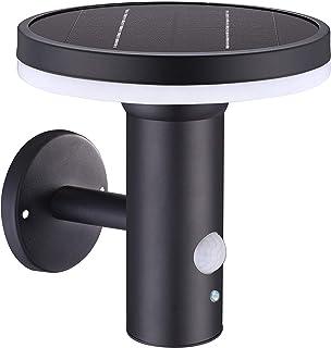 Lumisky Wall Aplique Solar multifunción con Detector de Movimiento Thy LED de 18 cm, Negro