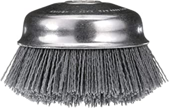 Osborn ATB Abrasive Nylon Cup Brush with Round Trim Silicon Carbide Bristle 6000 RPM 6 Diameter 80 Grit