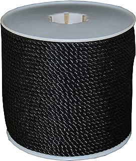 T.W Evans Cordage 191 Black Polypro Rope, 1/4-Inch x 600-Feet