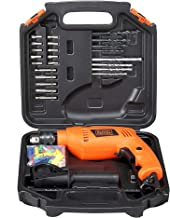 BLACK+DECKER HD555KA50 550W 13mm Variable Speed Reversible Impact Drill Kit with 50 Accessories Kitbox for Home and Profes...