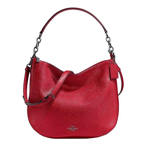 COACH Womens Polished Pebbled Leather Chelsea 32 Hobo
