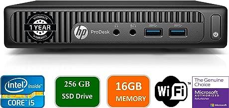 HP ProDesk 400-G2 Mini Desktop, Intel Core i5-6400T, 2.2GHz,16GB DDR4, 256GB Solid State Drive, Win10Pro (Renewed)