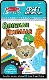 Melissa & Doug 9442 On The Go Origami Animals Craft Activity Set - 38 Stickers, 40 Origami Papers