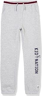 Kid Nation Kids Unisex Fleece Sweatpants Pull on Jogger Pants for Boys or Girls 4-12 Years