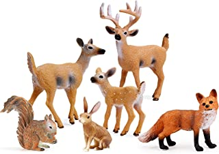 Best Forest Animals Figures, Woodland Creatures Figurines, Miniature Toys Cake Toppers (Deer Family, Fox, Rabbit, Squirrel) Reviews