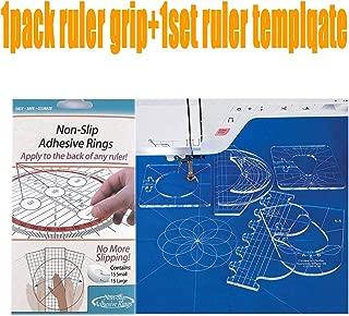 YICBOR TrueCut Non-Slip Ruler Grips, 30/Pkg + New Ruler Template Sampler Set #RL-06 (2.9mm)