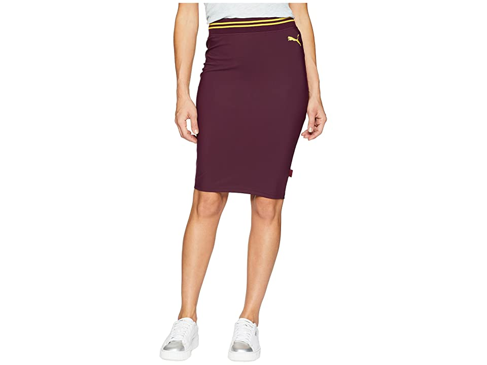 PUMA Varsity Pencil Skirt (Tawny Port) Women