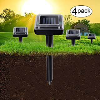 Aogist 4 Pack Solar Remover Spikes for Lawn Garden Yard