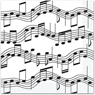 Beistle 16 Piece Disposable Musical Notes Paper Lunch Napkin