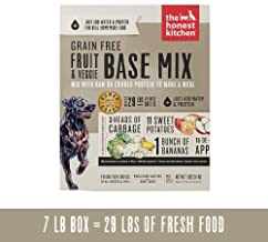 The Honest Kitchen Human Grade Dehydrated Grain Free Base Mix Recipe for Dogs, Just Add Protein
