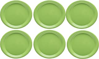 Zak Designs Zakwave 10-inch Microwavable Plate, Green, 6 piece set