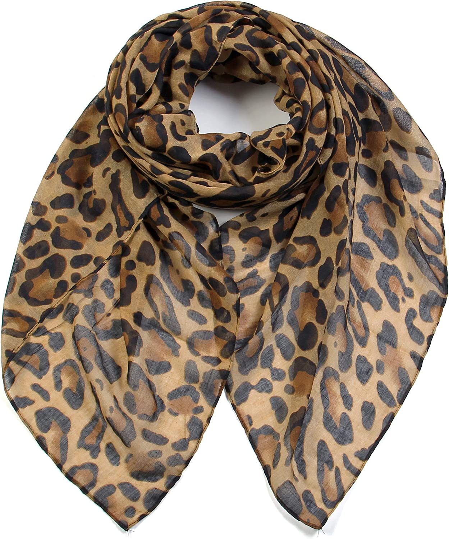 Max 57% OFF Scarfand's Women's Leopard Fashion Atlanta Mall Scarves