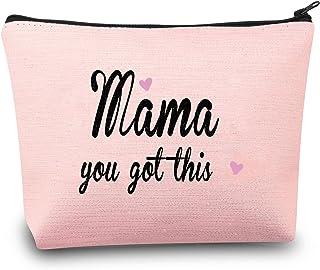 MBMSO You Got This Mama Gifts Mom حقيبة مستحضرات تجميل هدية لأم جديدة حقيبة سفر مضحكة هدايا للأم الجديدة حقائب مكياج