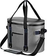 Homitt Soft Cooler 30 Can Soft Pack Cooler Insulated Soft Sided Cooler with Heavy Duty Leakproof TPU Material and Closed-Cell Foam for Taking Lunch, Camping, Picnic, Sea Fishing, Trip to Beach