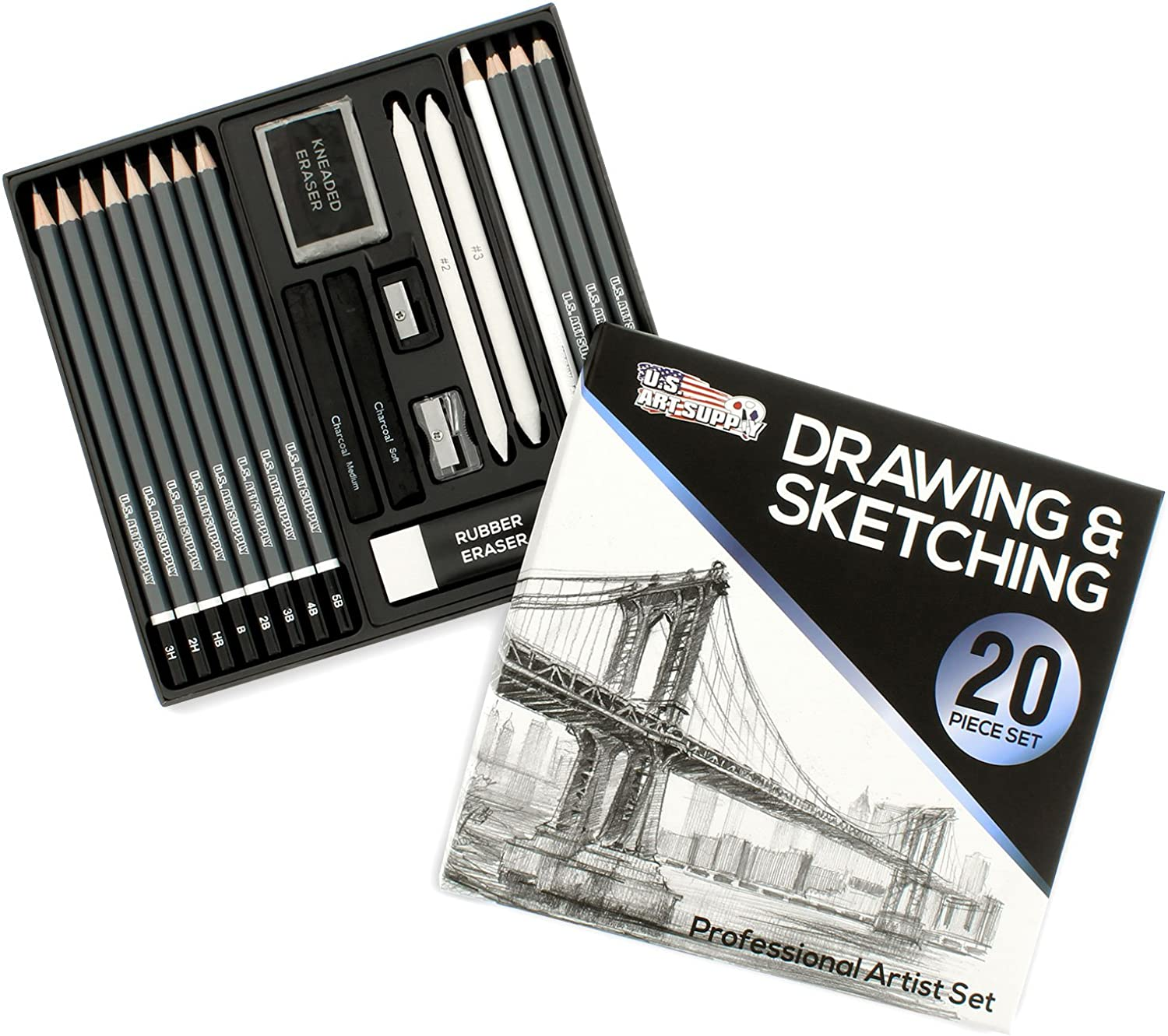US US US Art Supply Brand 36 Count Professional Hi-Quality Artist ColGoldt Pencil Set with 12 WaterFarbe, 8 Graphite, 12 ColGoldt & 4 Woodless Pencils. Great for Drawing Manga Art and works with all Drawing Media. Now Includes a FREE Reusable Plastic Carry Case e2239d