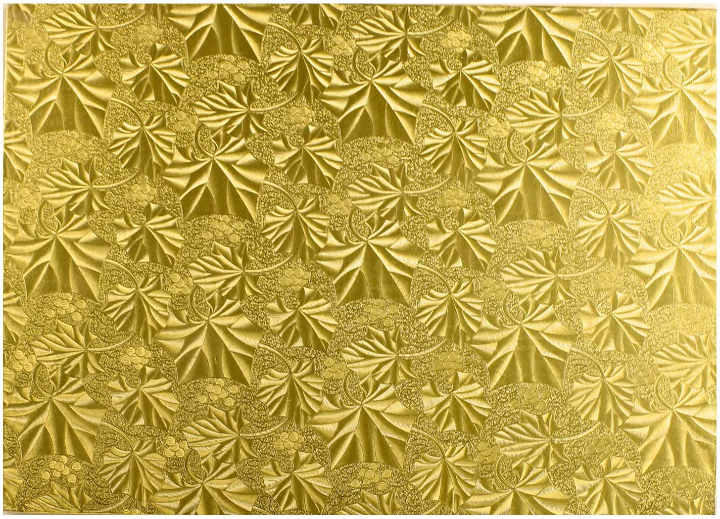 Enjay Pack of New product 12 Rectangular Embossed Gold-Foil I Board Cake 4 1 Max 70% OFF