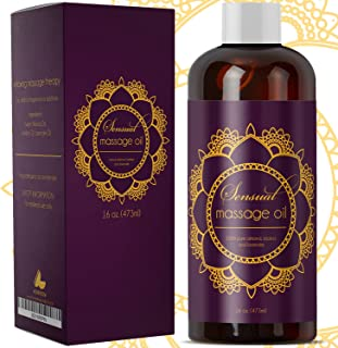 Sensual Massage Oil for Massage Therapy – Natural and Relaxing Massage Oil for Men..