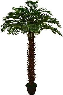 شجرة النخيل الصناعية الطبيعية تقريبًا 3 أمتار لتزيين المنزل في الأماكن المغلقة أو الهواء الطلق أو الحديقة - شجرة صناعية - ...