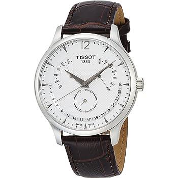 [ティソ] 腕時計 トラディション パーペチュアルカレンダー クォーツ シルバー文字盤 レザー T0636371603700 メンズ 正規輸入品 ブラウン