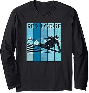 Retro Red Lodge, Montana Ski / Vintage Red Lodge, MT Ski Long Sleeve T-Shirt