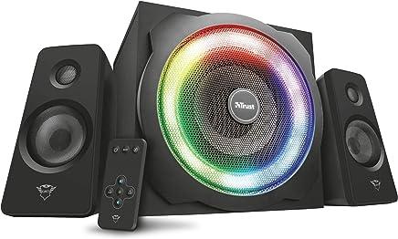 Trust Tytan GXT 629 Set Altoparlanti 2.1 con Illuminazione Led RGB Regolabile e Telecomando Wireless, Nero - Trova i prezzi più bassi