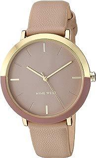 Nine West NW/2346GPTN - Reloj de pulsera para mujer, color dorado y café