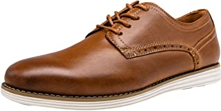 VOSTEY Brown Dress Shoes for Men Casual Oxford Shoes Leather Business Office Shoes (15,Casual leather630-yellow Brown)