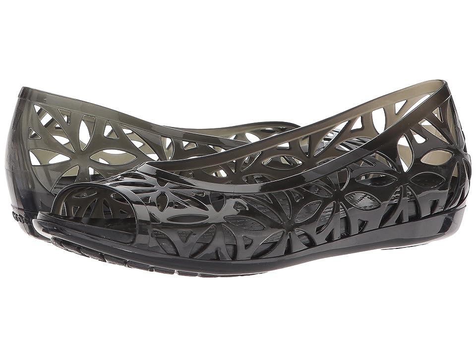 Crocs Isabella Jelly II Flat (Black/Black) Women