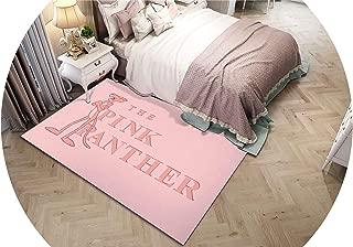 Cartoon Flamingo Living Room Bedside Carpet Area Rugs Prayer Yoga Bath Mat Flannel Kitchen Indoor Decor Pink Panther Carpet,No-2,Customize