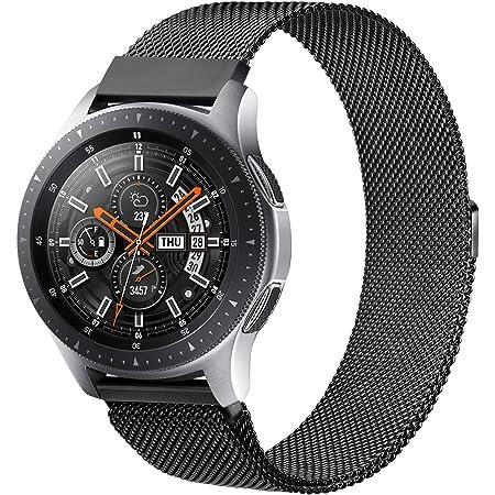 Senka 22mm Metal Correa Compatible con Samsung Galaxy Watch 3 45mm/Galaxy Watch 46mm/Gear S3,Pulseras de Repuesto de Inoxidable para Huawei Watch GT 2 46mm(22mm,Negro)