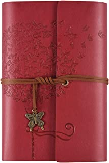 Leather Journal Notebook, Refillable Writing Journal Diary Planner for Women Girls, Ruled Travelers Journals to Write in,A...