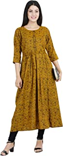 CEE 18 Women's Cotton Rayon A-Line Maternity/Nursing/Easy Feeding/Breastfeeding/Kurti/Kurta/Dress/with Zippers for PRE and Post Pregnancy