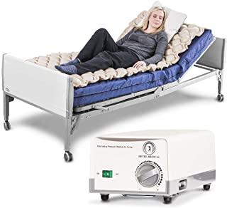Premium Alternating Air Pressure Mattress for Medical Bed - Pressure Sore and Pressure Ulcer Relief - Includes Ultra Quiet Pump and Pad Topper - Fits Standard Size Hospital Bed