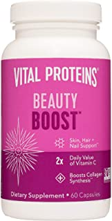 Vital Proteins Biotin Capsule Supplement - 1500mcg of Biotin per Serving (500% DV), Hair Skin Nail Support*, Boost Collage...