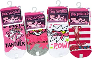 MGM 3 Pair Assorted Pink Panther Socks (Size 4-6) - Pink Panther Ankle Socks