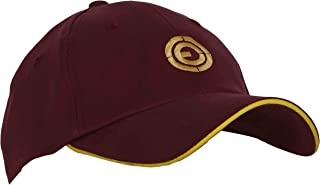 OJASS Men's Cotton Embroidered Golf Cap (OCP-mn_ys, Maroon, Free Size)