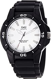 Q&Q Men's Silver Dial Silicone Band Watch - VQ84J004Y