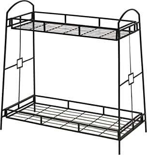 Panacea 86710 Plant Stand with Contemporary Tray Design and 2-Tier, 32-Inch Height, Black