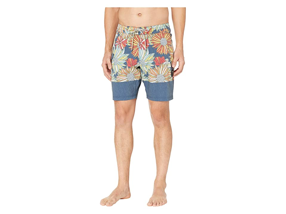 VISSLA Ligularia Boardshorts 18.5 (Dark Denim) Men