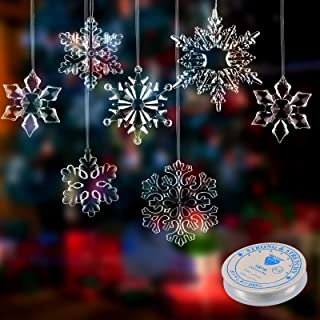 show original title Details about  /Snowflake Acrylic Table Decoration Christmas eiskristall Craft Clear Matt