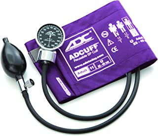 ADC Diagnostix 700 Pocket Aneroid Sphygmomanometer with Adcuff Nylon Blood Pressure Cuff, Adult, Purple