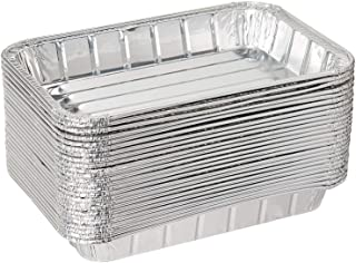 """Pack of 20 Disposable Aluminum Foil Toaster Oven Pans-Mini Broiler Pans 