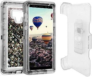 ERU Galaxy S8 Case, Belt Clip Holster Case, Full Body Shockproof Liquid Glitter Quicksand Sparkle Bling Case Heavy Duty Ph...