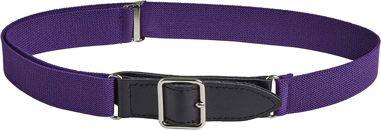 Sportoli Kids Elastic Adjustable Leather Front Stretch Belt Hook n Loop Closure