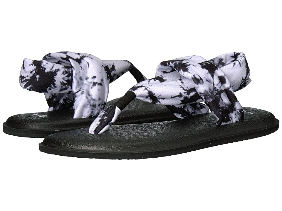 Sanuk Yoga Sling 2 Prints (Black Tye Dye) Women
